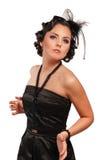 Mujer atractiva del vamp Imagen de archivo libre de regalías