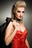 Mujer atractiva del vamp Fotografía de archivo libre de regalías
