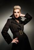 Mujer atractiva del vamp Foto de archivo libre de regalías