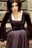 Mujer atractiva del vampiro fotos de archivo libres de regalías