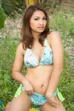 Mujer atractiva en bikini Imagen de archivo