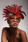 Mujer atractiva en máscara imagen de archivo libre de regalías