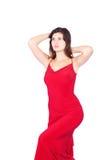 Mujer atractiva en rojo Fotos de archivo libres de regalías
