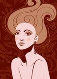 Mujer atractiva hermosa Libre Illustration