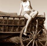 Mujer atractiva joven Imagen de archivo libre de regalías