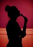 Mujer atractiva joven que compone Foto de archivo