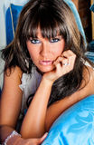 Mujer atractiva - modelo moreno Fotografía de archivo libre de regalías
