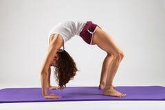 Mujer atractiva que hace ejercicios de la yoga Fotos de archivo libres de regalías