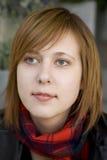Mujer atractiva seria con el ojo azul Fotos de archivo libres de regalías
