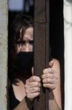 Mujer atrapada Imagen de archivo