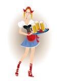 Mujer bávara con la cerveza ilustración del vector