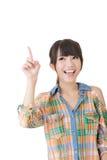 Mujer bastante asiática de los jóvenes que destaca Imagen de archivo