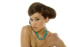 Mujer bastante asiática Foto de archivo libre de regalías