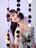 Mujer bastante atractiva de la manera en estilo hippy Imagen de archivo