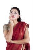 Mujer bastante india pensativa Fotografía de archivo libre de regalías
