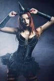 Mujer bastante joven del redhead vestida como hada Foto de archivo
