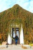 Mujer bastante joven en otoño fotos de archivo