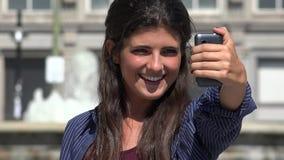 Mujer bastante urbana Selfie metrajes