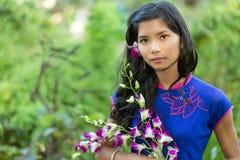 Mujer bastante vietnamita Fotos de archivo