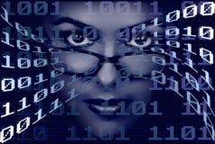 Mujer binaria Imagenes de archivo