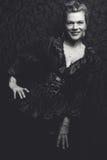 Mujer blanco y negro hermosa fotos de archivo libres de regalías