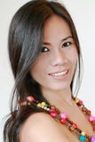 Mujer bonita con el pelo largo Imágenes de archivo libres de regalías