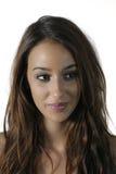 Mujer bonita con el pelo marrón largo Imagen de archivo libre de regalías