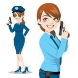 Mujer bonita de la policía Fotografía de archivo