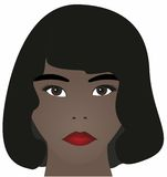 Mujer bonita del African-American Foto de archivo libre de regalías