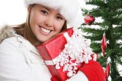 Mujer bonita en la Navidad foto de archivo libre de regalías