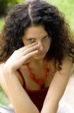 Mujer bonita infeliz Imagen de archivo