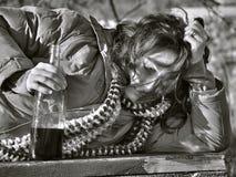 Mujer borracha 1 Imagen de archivo