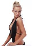 Mujer bronceada atractiva Imagenes de archivo
