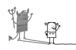 Mujer buena con la sombra del diablo libre illustration