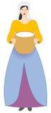 Mujer campesina libre illustration