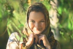 Mujer campesina rusa Foto de archivo libre de regalías