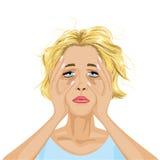 Mujer cansada libre illustration