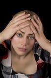 Mujer cansado Foto de archivo libre de regalías