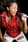 Mujer cantante Fotografía de archivo libre de regalías