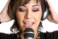 Mujer cantante Fotos de archivo