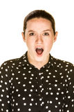 Mujer caucásica atractiva sorprendida Fotos de archivo