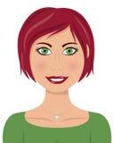Mujer caucásica hermosa con el pelo rojo Imagenes de archivo
