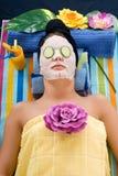 Mujer, centro del balneario Imágenes de archivo libres de regalías