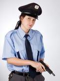 Mujer checa de la policía Fotos de archivo