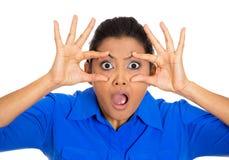 Mujer chocada Imagen de archivo libre de regalías