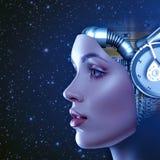Mujer cibernética Foto de archivo libre de regalías