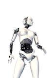 Mujer cibernética aislada Imágenes de archivo libres de regalías