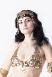 Mujer como princesa de la mirada de Egipto en usted Foto de archivo libre de regalías