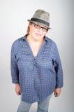 Mujer con el sombrero fotografía de archivo