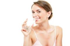Mujer con agua Imágenes de archivo libres de regalías